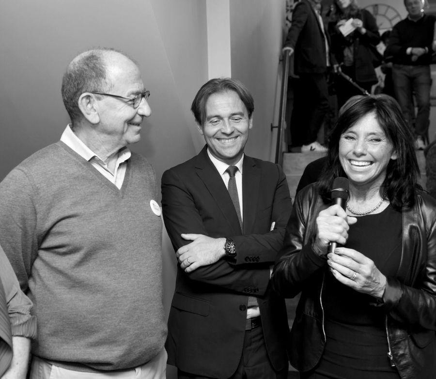Stéphane Roussier, Raphaël Trannoy,Consul de France, Dominique Dufourny,Bourgmestre d'Ixelles