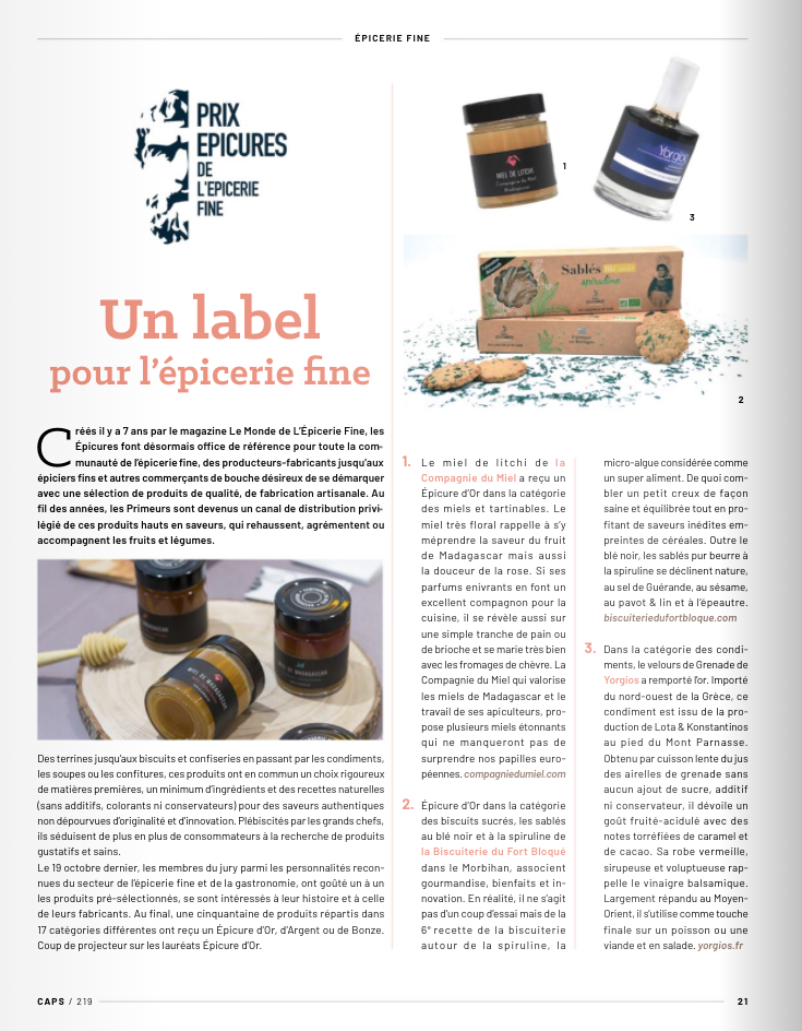 CAPS - LABEL Epicures