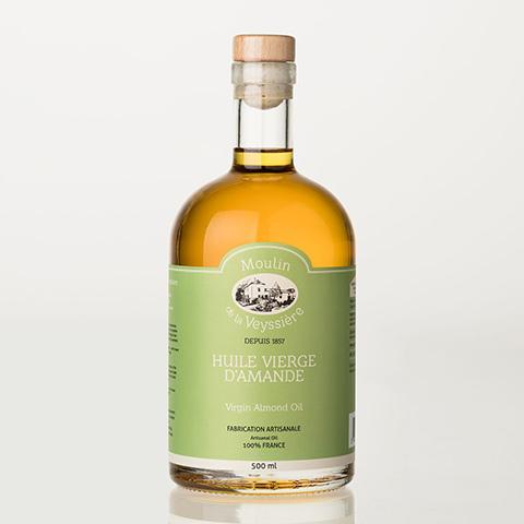 huile vierge amande Moulin de la Veyssière